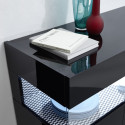 Glamour black gloss sideboard with LED lights