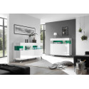 Glamour white gloss sideboard with LED lights