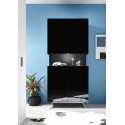 Glamour II black gloss display cabinet with LED lights