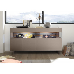 Glamour brown sideboard with LED lights