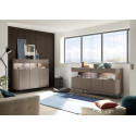 Glamour brown highboard with LED lights