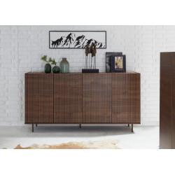 Monza dark walnut sideboard with pinstripe stencil