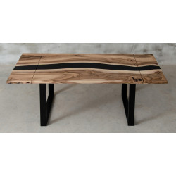 Aria extendable resin dining table in oak