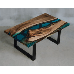 Aria bespoke resin coffee table L shape leg