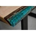 Aria bespoke resin coffee table L shape leg
