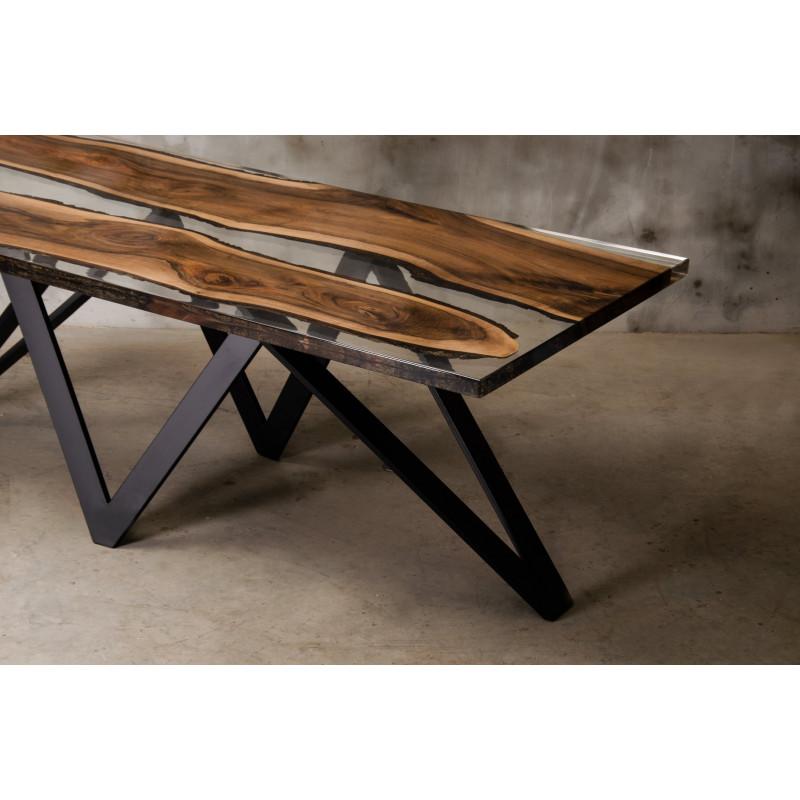 Aria II bespoke resin dining table - Modern Wood ...