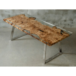 Aria bespoke resin dining table