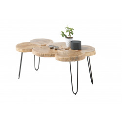 Cole coffee table in acacia wood