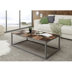 Binto II coffee table with raw acacia wood