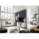 Cronos 169cm matt white TV unit