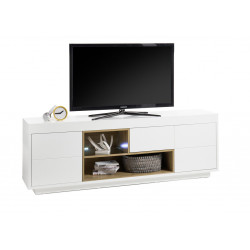 Cronos 193cm matt white TV unit
