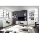 Cronos 193cm matt white TV unit