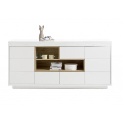 Cronos 193cm matt white sideboard
