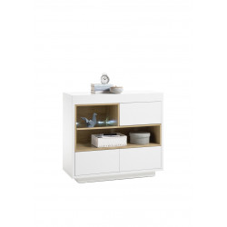 Cronos 99cm matt white sideboard
