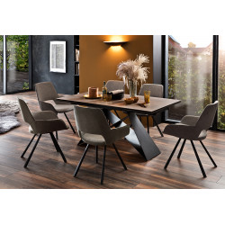 Kobe ceramic top extendable dining table