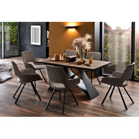 Kobe ceramic top extendable dining table