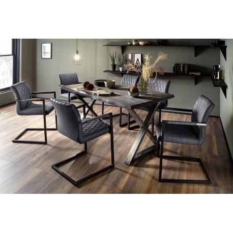 Calabria grey acacia wood table in various options