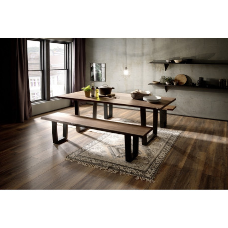 Calabria walnut acacia wood table in various options