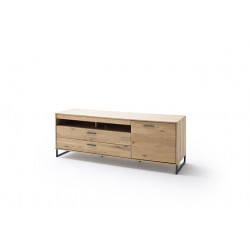Portland 184cm assembled solid wood TV Unit