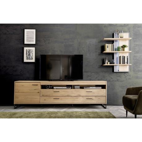 Portland 184cm assembled solid wood TV Unit