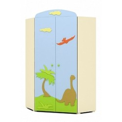 Dinosaur - double door corner wardrobe