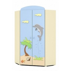 Blue Lagoon - double door corner wardrobe