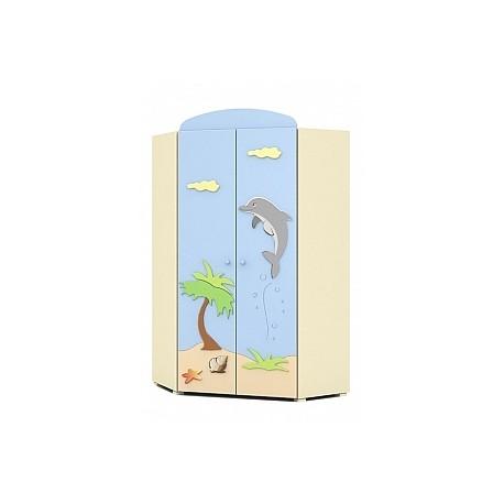 Blue Lagoon - double door corner wardrobe