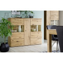 Santori assembled solid wood dispaly highboard