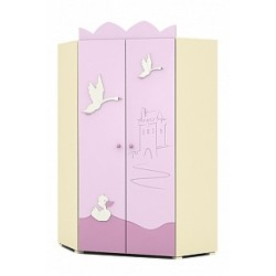 Swan - double door corner wardrobe