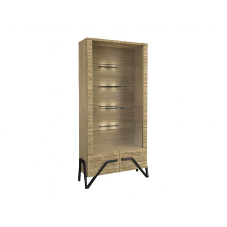 Pik assembled solid wood display cabinet
