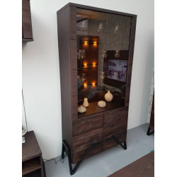Pik II assembled solid wood display cabinet