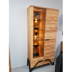 Pik III assembled solid wood display cabinet