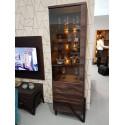 Pik II assembled narrow display cabinet