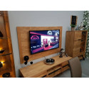 Pik assembled solid wood TV stand