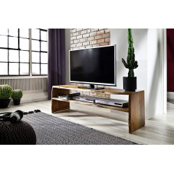 Calabria acacia wood TV unit