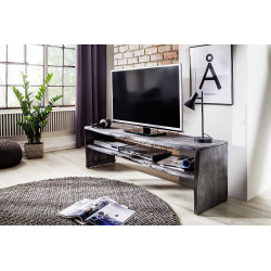 Calabria grey acacia wood TV unit