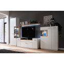 Celia assembled small highboard in white and oak finish