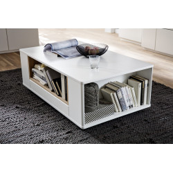 Celia 150cm assembled TV unit in white and oak finish