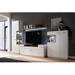 Celia assembled wall unit composition
