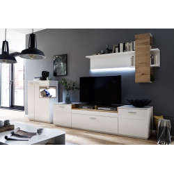 Celia III assembled wall unit composition