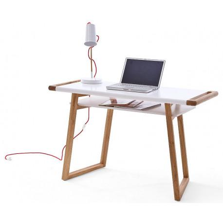 Milan II office desk in matt lacquer finish