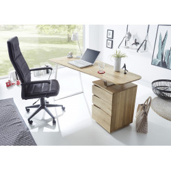 Tori office desk in solid oak finish