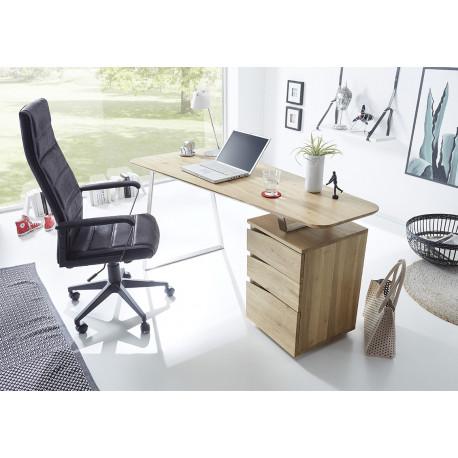 Tori office desk in solid oak finish