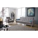 Nappa Scandinavian style armchair