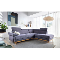 Memo corner sofa bed with oak frame