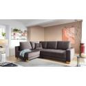Sim corner sofa bed with oak legs