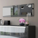 Capella 220cm grey and white gloss sideboard with led lights