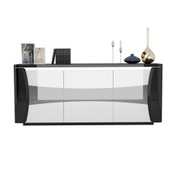 Capella 180cm grey and white gloss sideboard with led lights