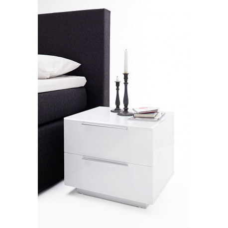 Nola V set of two bedside cabinets with two drawers