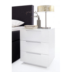 Nola VI set of two high gloss bedside cabinets